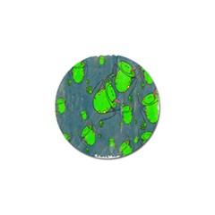 Cartoon Grunge Frog Wallpaper Background Golf Ball Marker (10 Pack)