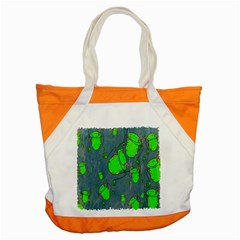 Cartoon Grunge Frog Wallpaper Background Accent Tote Bag