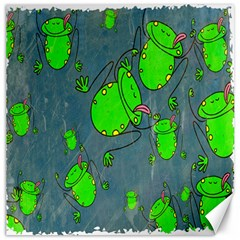 Cartoon Grunge Frog Wallpaper Background Canvas 20  x 20