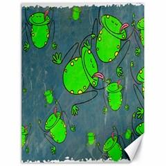 Cartoon Grunge Frog Wallpaper Background Canvas 18  x 24