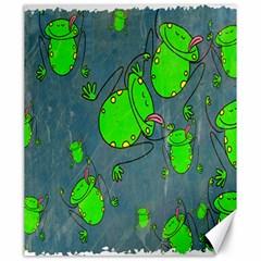 Cartoon Grunge Frog Wallpaper Background Canvas 20  x 24
