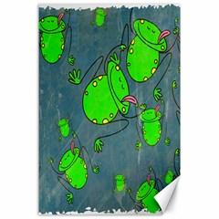 Cartoon Grunge Frog Wallpaper Background Canvas 24  X 36