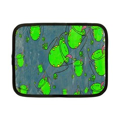 Cartoon Grunge Frog Wallpaper Background Netbook Case (Small)