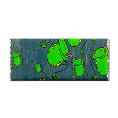 Cartoon Grunge Frog Wallpaper Background Cosmetic Storage Cases
