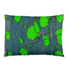Cartoon Grunge Frog Wallpaper Background Pillow Case
