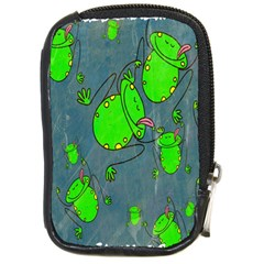 Cartoon Grunge Frog Wallpaper Background Compact Camera Cases