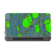 Cartoon Grunge Frog Wallpaper Background Memory Card Reader with CF