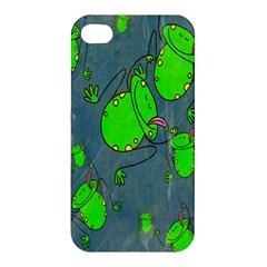 Cartoon Grunge Frog Wallpaper Background Apple Iphone 4/4s Hardshell Case
