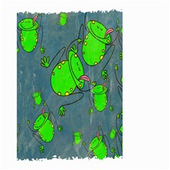 Cartoon Grunge Frog Wallpaper Background Small Garden Flag (two Sides)