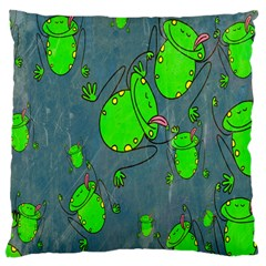 Cartoon Grunge Frog Wallpaper Background Large Cushion Case (two Sides)