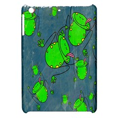 Cartoon Grunge Frog Wallpaper Background Apple iPad Mini Hardshell Case