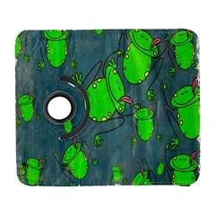 Cartoon Grunge Frog Wallpaper Background Galaxy S3 (flip/folio)