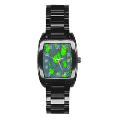 Cartoon Grunge Frog Wallpaper Background Stainless Steel Barrel Watch
