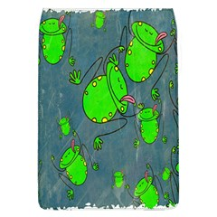 Cartoon Grunge Frog Wallpaper Background Flap Covers (l)