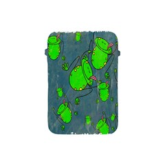 Cartoon Grunge Frog Wallpaper Background Apple Ipad Mini Protective Soft Cases