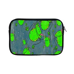 Cartoon Grunge Frog Wallpaper Background Apple iPad Mini Zipper Cases
