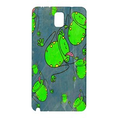 Cartoon Grunge Frog Wallpaper Background Samsung Galaxy Note 3 N9005 Hardshell Back Case