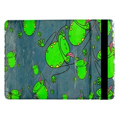 Cartoon Grunge Frog Wallpaper Background Samsung Galaxy Tab Pro 12.2  Flip Case