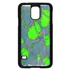 Cartoon Grunge Frog Wallpaper Background Samsung Galaxy S5 Case (Black)