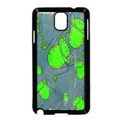 Cartoon Grunge Frog Wallpaper Background Samsung Galaxy Note 3 Neo Hardshell Case (Black)