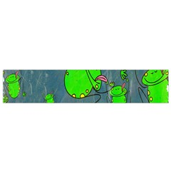 Cartoon Grunge Frog Wallpaper Background Flano Scarf (small)