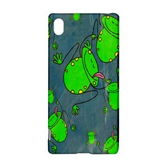 Cartoon Grunge Frog Wallpaper Background Sony Xperia Z3+
