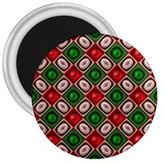 Gem Texture A Completely Seamless Tile Able Background Design 3  Magnets