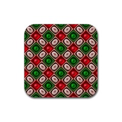 Gem Texture A Completely Seamless Tile Able Background Design Rubber Coaster (square)