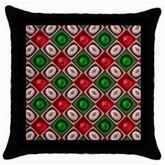 Gem Texture A Completely Seamless Tile Able Background Design Throw Pillow Case (Black)