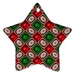 Gem Texture A Completely Seamless Tile Able Background Design Star Ornament (Two Sides)