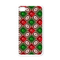 Gem Texture A Completely Seamless Tile Able Background Design Apple iPhone 4 Case (White)