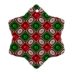 Gem Texture A Completely Seamless Tile Able Background Design Snowflake Ornament (Two Sides)