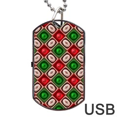 Gem Texture A Completely Seamless Tile Able Background Design Dog Tag USB Flash (One Side)