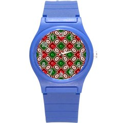 Gem Texture A Completely Seamless Tile Able Background Design Round Plastic Sport Watch (S)