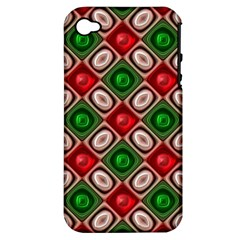 Gem Texture A Completely Seamless Tile Able Background Design Apple iPhone 4/4S Hardshell Case (PC+Silicone)