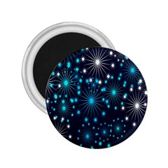 Digitally Created Snowflake Pattern Background 2 25  Magnets