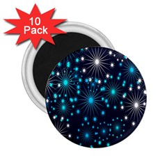 Digitally Created Snowflake Pattern Background 2.25  Magnets (10 pack)