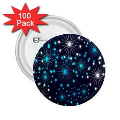 Digitally Created Snowflake Pattern Background 2.25  Buttons (100 pack)