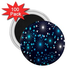 Digitally Created Snowflake Pattern Background 2.25  Magnets (100 pack)