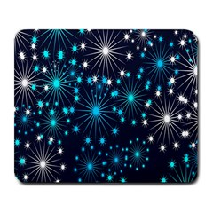 Digitally Created Snowflake Pattern Background Large Mousepads