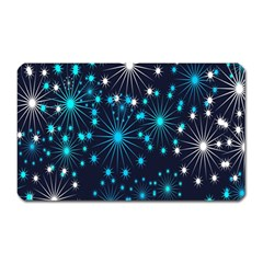 Digitally Created Snowflake Pattern Background Magnet (rectangular)