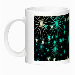 Digitally Created Snowflake Pattern Background Night Luminous Mugs