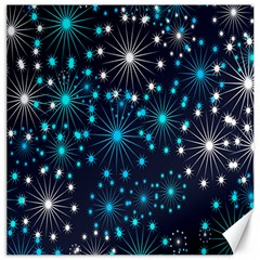 Digitally Created Snowflake Pattern Background Canvas 16  x 16