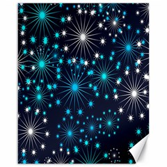 Digitally Created Snowflake Pattern Background Canvas 16  x 20
