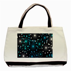 Digitally Created Snowflake Pattern Background Basic Tote Bag (Two Sides)