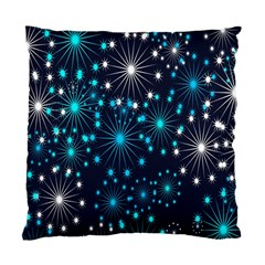 Digitally Created Snowflake Pattern Background Standard Cushion Case (two Sides)