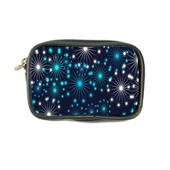 Digitally Created Snowflake Pattern Background Coin Purse