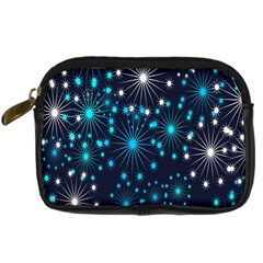 Digitally Created Snowflake Pattern Background Digital Camera Cases