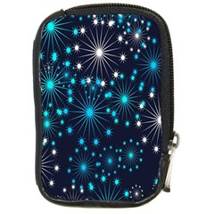 Digitally Created Snowflake Pattern Background Compact Camera Cases