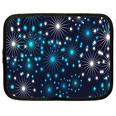Digitally Created Snowflake Pattern Background Netbook Case (XL)